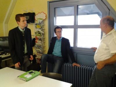 2015-07-27 Besuch des Um-welthaus mit Harals Ebner MdB